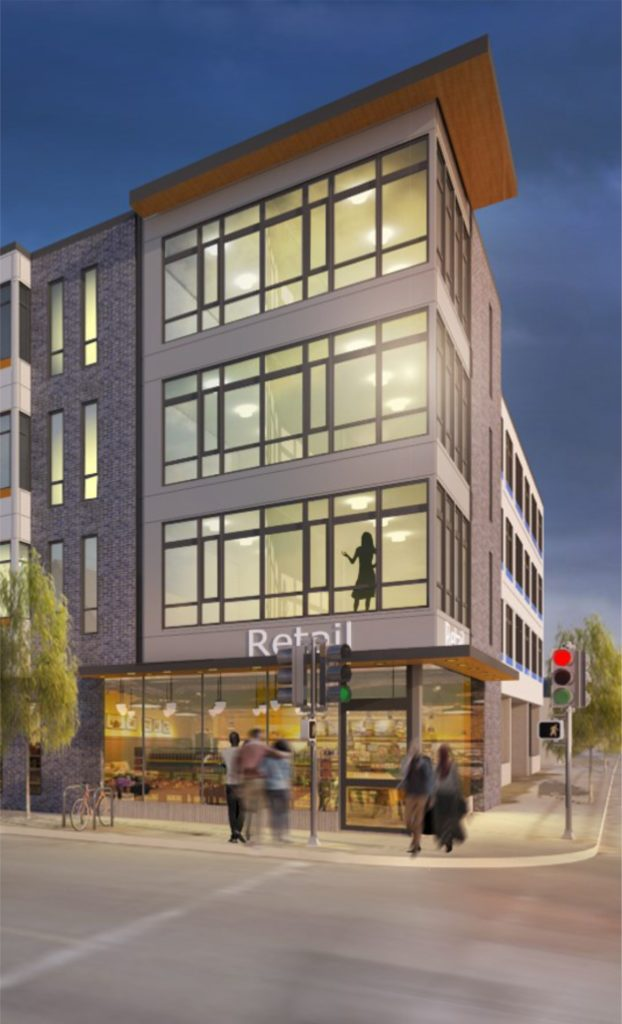 Villard Commons is a new residential community located in the Old North neighborhood of Milwaukee, Wisconsin. The four-story building offers residents a mix of uses including 43 one, two, and three-bedroom contemporary apartment homes.